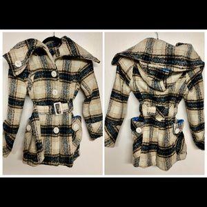 Dollhouse Plaid Hooded coat